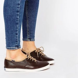 Brown Leather Keds Classics